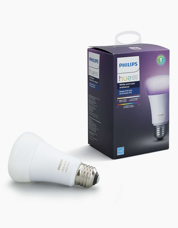 Philips Hue White & Colour Ambiance Bulb A19