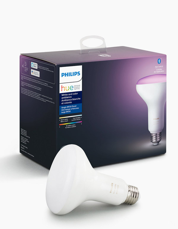 Philips Hue White & Colour Ambiance BR30 Bulb with Bluetooth & ZigBee