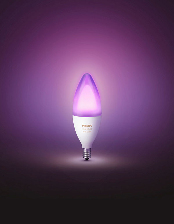 Philips Hue White & Colour Ambiance Chandelier Bulb