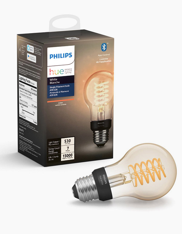 Philips Hue Filament Bulb A19 with Bluetooth &...