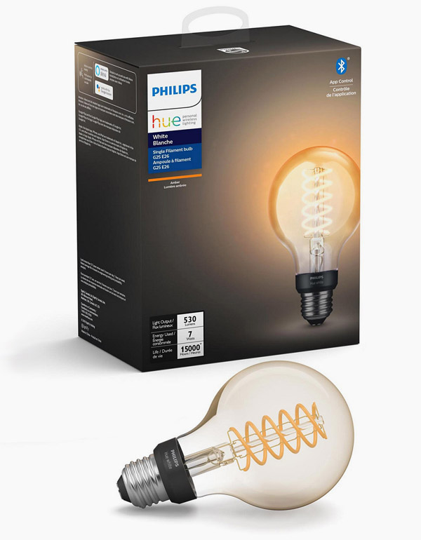 Philips Hue Filament G25 Globe Bulb with Bluetooth...