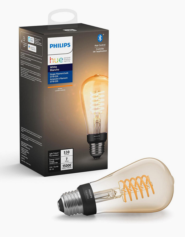 Philips Hue Filament Bulb ST19 with Bluetooth &...