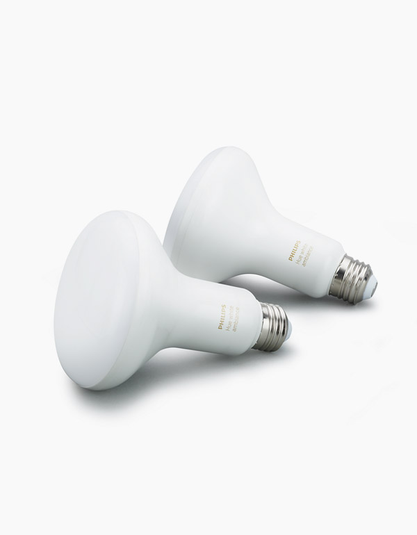 Philips Hue White Ambiance BR30 Bulbs 2-pack