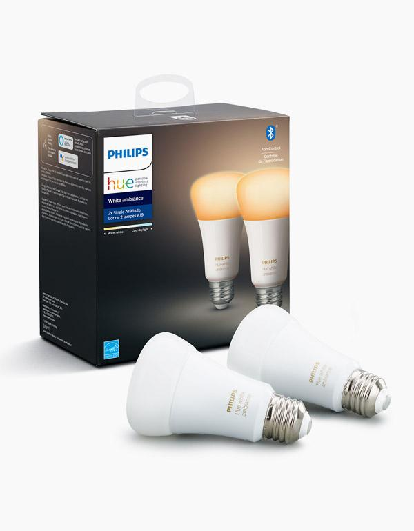Philips Hue White Ambiance  Bulbs A19 with Bluetoo...