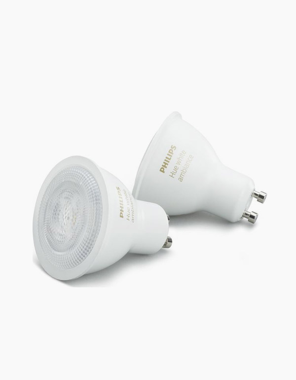 Philips Hue White Ambiance GU10 Bulbs with Bluetooth & Zigbee 2-pack