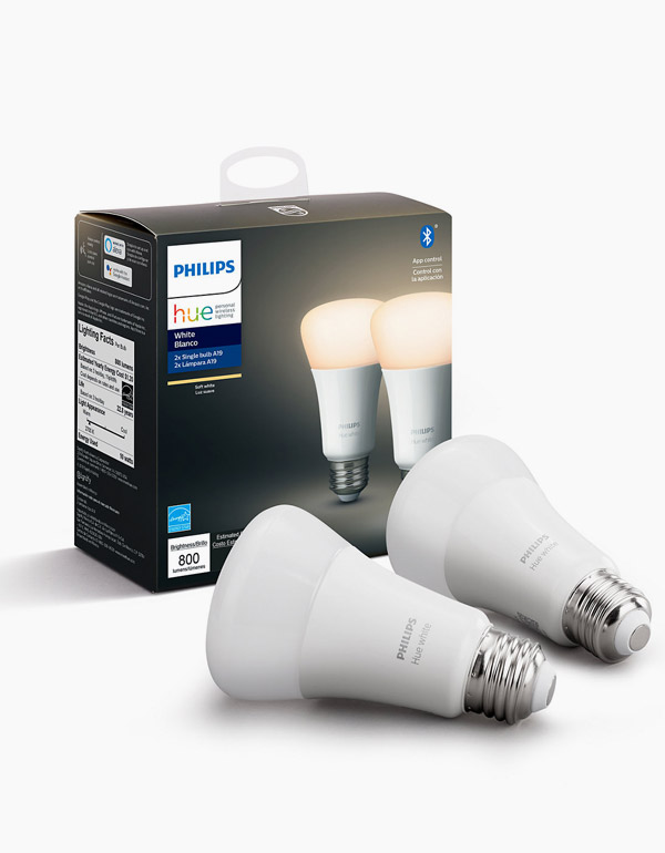 Philips Hue White Bulb with Bluetooth & ZigBee 2-pack