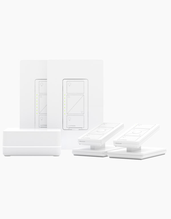 Lutron Caseta 2-Pack In-Wall Smart Dimmer Switch Kit
