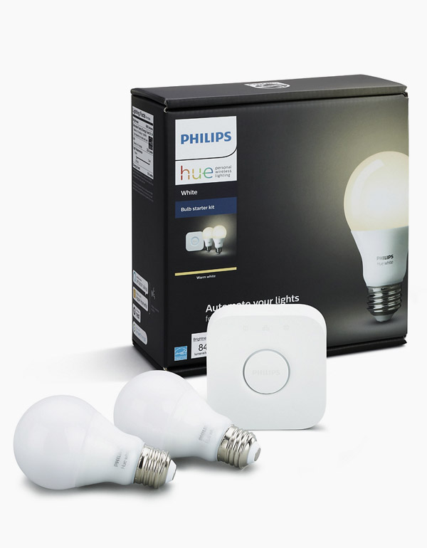 Philips Hue Starter kit with 2 A19 white bulbs