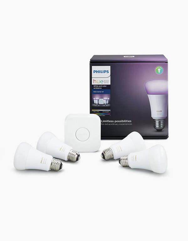 Philips Hue White & Colour Ambiance A19 4 Pack...