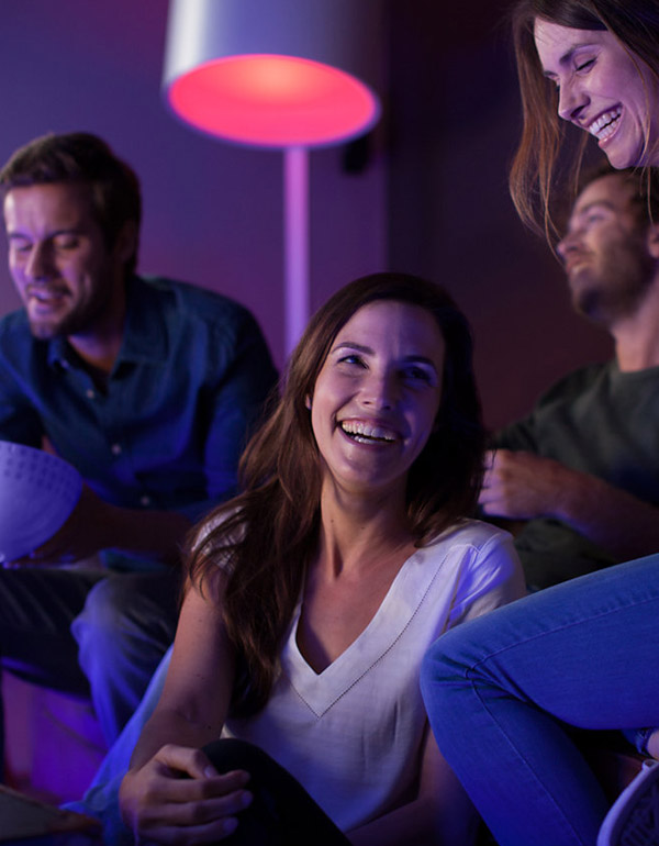 Philips Hue White & Colour Ambiance A19 4 Pack Starter Kit