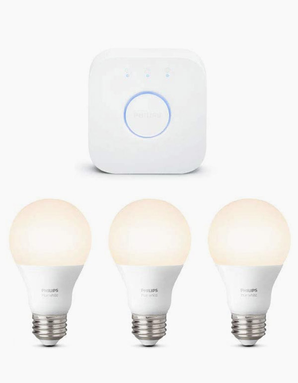 Philips Hue Starter kit with 3 A19 white bulbs