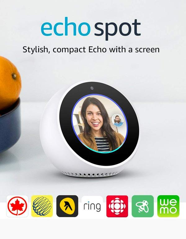 Amazon Echo Spot - White