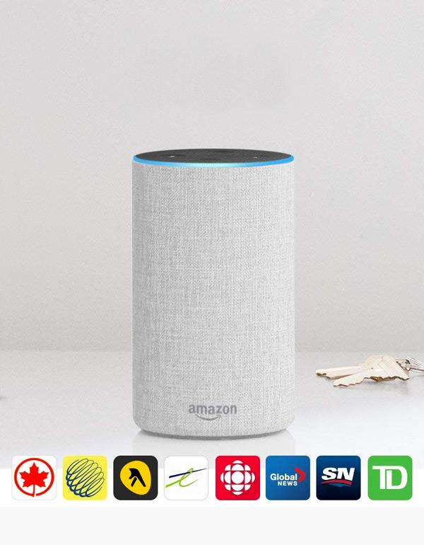 Amazon Echo 2nd Generation - Sandstone Fabric